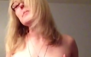 sexy mom playing with tits