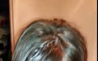 amateur girlfriend gets a spunk fountain all over