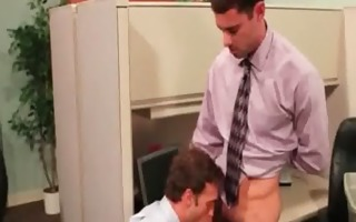 muscled homosexual studs fuck in yhe office