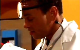 doctor calls his nurse in for sexual procedure