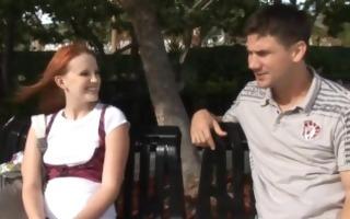 hot redhead acquires a creampie