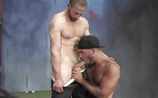muscle military dudes sneaks up for a sexy fuck