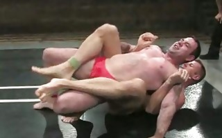 strong homosexual boyz wrestling hard and rough