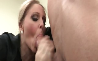excited wicked large boobed blonde milf doxy