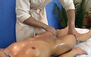 buttered and drilled during a massage