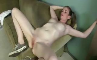 constricted body blonde beauty copulates large