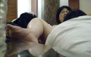 licking my korean secretary's twat