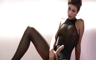 sexy princess in pantyhose teasing