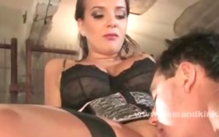 breasty slutty mistress teaches her female sex