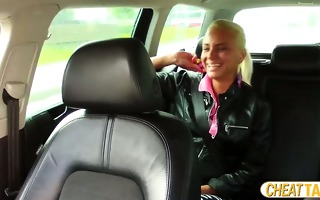 marvelous iva gets paid for sex in taxi and she