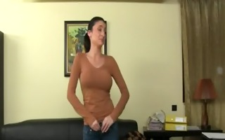 biggest milk sacks honey sexing on leather ottoman