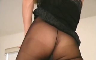 hairy gash in tight hose