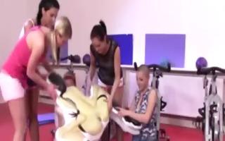 sporty teens humiliating their teacher