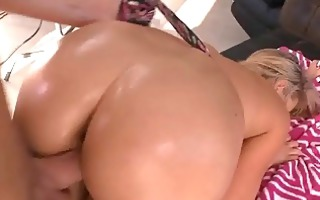 golden-haired with ideal milk sacks and ass blows