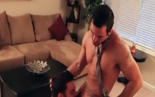 homosexual guys have a fun hardcore fucking in