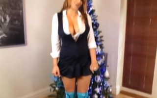 mercedes (aka demi scoot) stripping for christmas