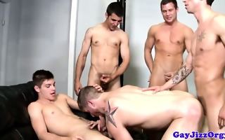 group of gay muscled hunks group sex dude