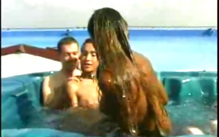 big shemale party in jacuzzi by troc