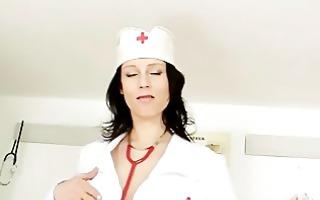 busty uniform mother i sabrina large milk shakes