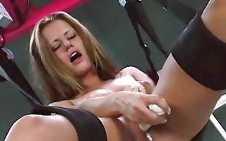 hot dilettante sex swing sextoy self fucking