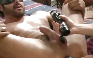 masked hunky gay acquires his taut ass stretched