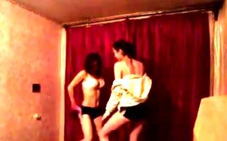 2 russian gals sexy undress dance