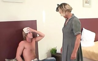 he is explores and fucks her old pussy
