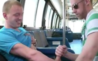 blowing non-professional sex in a bus