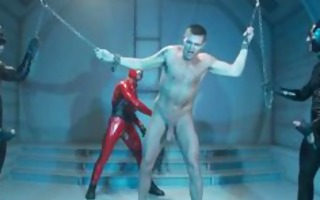 bound fellow whipped and drilled homo