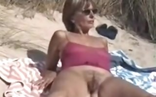 mom with unshaved pussy filmed bare on the public