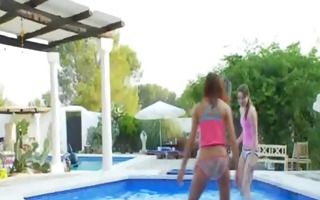 amazing pool masturbation of friends