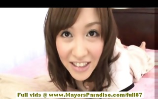 mihiro chinese model enjoys getting an office