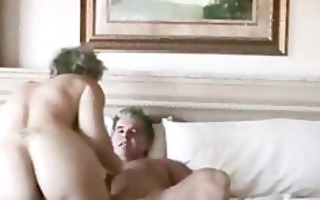 wife fucks hubbie and den acquires cummed on